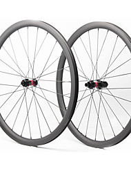 cheap -FARSPORTS 700CC Wheelsets Cycling 28 mm Road Bike Carbon Fiber Clincher / Tubeless Compatible 28/28 Spokes 35 mm