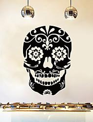 Недорогие -цветок глаз череп стикер стены декоративные хэллоуин арт обои