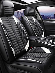 cheap -5 seats four seasons universal car seat cover /linen material/PU leather/Airbag compatibility/fiadjustable and removable