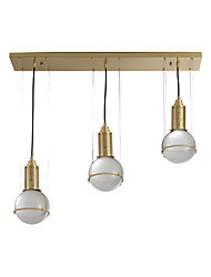 cheap -ZHISHU 3-Light 20 cm Pendant Light Metal Cluster / Industrial Brass Contemporary / Chic & Modern 110-120V / 220-240V