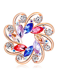 cheap -Women's Brooches Creative Flower European Fashion Brooch Jewelry Red Blue Assorted Color For Wedding Gift Daily