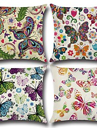 cheap -Set of 1 Cotton / Linen Pillow Cover, Butterfly 3D Print Casual Fashion Throw Pillow