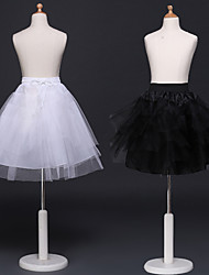 cheap -Maid Costume Ballet Dancer Classic Lolita 1950s Dress Petticoat Hoop Skirt Crinoline Girls' Kid's Tulle Costume Black / White Vintage Cosplay Party Performance Princess