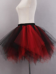 cheap -Ballet Classic Lolita 1950s Dress Petticoat Hoop Skirt Crinoline Women's Girls' Tulle Costume Red+Black / Black / White Vintage Cosplay Party Performance Princess