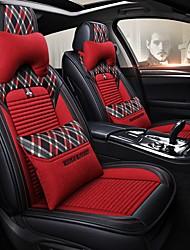 abordables -Housse de siège de voiture de bande dessinée 5 sièges avec deux oreillers et deux ceintures / compatibilité airbag / réglable et amovible / universel quatre saisons