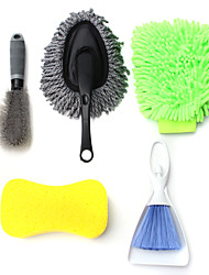 cheap -5PCS Car Interior Exterior Washer Car Cleaning Tool Kit Cleaner Brush Sponge Glove