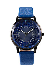 cheap -Men's Dress Watch Quartz Leather Black / Blue 30 m Calendar / date / day Casual Watch Analog Casual Fashion - Silver Blue Gold / Silver / Black One Year Battery Life