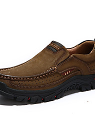 cheap -Men's Fall / Spring & Summer Casual / British Daily Outdoor Trainers / Athletic Shoes Hiking Shoes / Walking Shoes Nappa Leather Breathable Non-slipping Shock Absorbing Light Brown / Black / Khaki