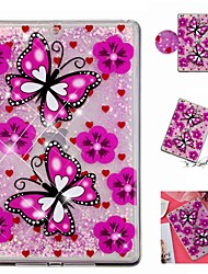 cheap -Case For Apple iPad Air / iPad (2018) / iPad Air 2 Shockproof / Flowing Liquid / Transparent Back Cover Butterfly / Glitter Shine Soft TPU / iPad (2017)