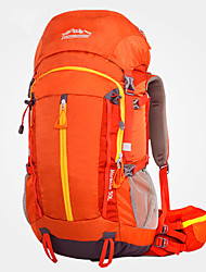 cheap -LONGSINGER 50 L Hiking Backpack Breathable Fast Dry YKK Zipper Professional Outdoor Camping / Hiking Climbing Camping Spandex Orange Green