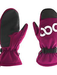 cheap -Ski Gloves Men's Women's Snowsports Full Finger Gloves Winter Velvet Flocked PU(Polyurethane) Snowsports Winter Sports