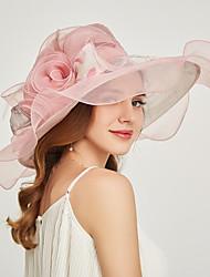 cheap -Organza Headwear with Flower / Ruffle 1 Piece Wedding / Sports & Outdoor / Tea Party Headpiece