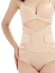 cheap -Women's Hook & Eye Underbust Corset - Plain, Slim / Fashion / Tummy Control Beige M L XL