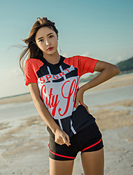 abordables -Femme Maillot De Bain Rashguard Maillots de Bain Coupe Vent Respirable Séchage rapide 3 Pièces - Natation Mosaïque