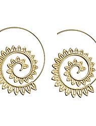 cheap -Women's Ear Piercing Hoop Earrings Geometrical Statement Trendy Fashion Earrings Jewelry Gold / Silver For Party Ceremony Festival 1 Pair