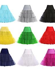 abordables -Princesse Années 50 Femme Jupon Tutu Sous jupe Crinoline Cosplay Rose / Bleu Encre / Ivoire Mi-long Les costumes