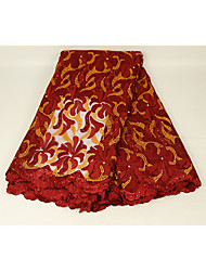 cheap -African lace Florals Embroidery 125 cm width fabric for Apparel and Fashion sold by the 5Yard