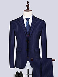 cheap -Tuxedos Standard Fit Notch Single Breasted Two-buttons Polyester Stripes