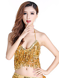 cheap -Belly Dance Top Tassel Bandage Women's Training Performance Sleeveless Elastane Terylene