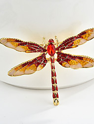 cheap -Women's Brooches Classic Dragonfly Animal Cartoon Sweet Fashion Folk Style Brooch Jewelry Black Purple Red For Graduation Gift Daily Carnival Festival