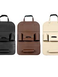 Недорогие -Универсальный 3 цвета искусственная кожа автокресло сумка для хранения обратно организатор дорожная коробка карман укладка приборной протектор дети