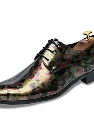 cheap -Men's Comfort Shoes PU Spring Casual Oxfords Non-slipping Color Block Purple / Yellow
