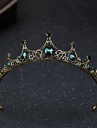 cheap -Baroque Vintage Queen Princess Crown Alloy Tiaras with Crystal Rhinestone 1 Piece Wedding Special Occasion Headpiece