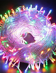 cheap -100m String Lights 600 LEDs 1 set Cold White / RGB / Blue Waterproof / Creative / Party 220-240 V / IP44