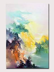 cheap -Mintura Large Size Hand Painted Abstract Landscape Oil Painting On Canvas Modern Wall Art Picture For Home Decoration No Framed Rolled Without Frame