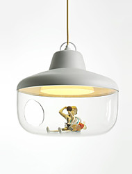cheap -1-Light LED® Bowl / Geometrical / Lantern Pendant Light Ambient Light Painted Finishes PVC Glass Matte, Creative, Color Gradient 110-120V / 220-240V