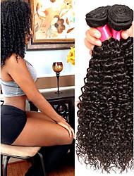 cheap -6 Bundles Malaysian Hair Kinky Curly Virgin Human Hair Natural Color Hair Weaves / Hair Bulk Bundle Hair One Pack Solution 8-28inch Natural Color Human Hair Weaves Waterfall Cute Safety Human Hair