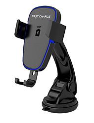 Недорогие -беспроводное автомобильное зарядное устройство, автоматическое крепление ци автомобильное крепление для быстрой зарядки, держатель на приборной панели ветрового стекла