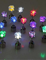 cheap -Light Up LED Earrings Hot Christmas Studs Flashing Blinking Stainless Steel Earrings Studs Dance Party Accessories Supplies Gift