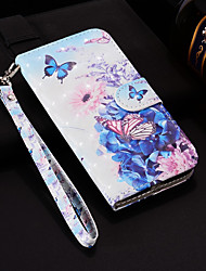 cheap -Case For Nokia Nokia 6 2018 / Nokia 5 / Nokia 5.1 Wallet / Card Holder / with Stand Full Body Cases Butterfly Hard PU Leather