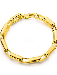 cheap -Men's Chain Bracelet Classic Baht Chain Vertical / Gold bar Stylish Gold Plated Bracelet Jewelry Gold For Graduation Daily