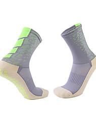 Недорогие -Взрослые Футбольные носки Спортивные носки Футбольные Носки Хлопок Муж. Носки Бег Футбол Дышащий Антибактериальный Впитывает пот и влагу Зима Для спорта и активного отдыха 1 пара / Слабоэластичная