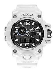 cheap -Men's Sport Watch Quartz Silicone White / Blue / Khaki Calendar / date / day Noctilucent Analog Classic Fashion - Green Blue Khaki