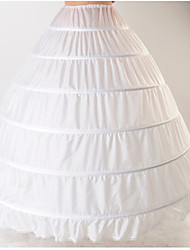 cheap -Bride Classic Lolita 1950s Layered Dress Petticoat Hoop Skirt Crinoline Women's Girls' Tulle Cotton Costume White Vintage Cosplay Wedding Party Princess
