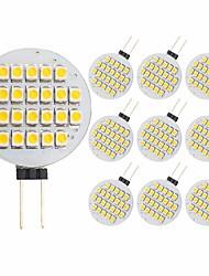 cheap -10pcs 3 W LED Bi-pin Lights 300 lm G4 24 LED Beads SMD 2835 Decorative Warm White 12 V