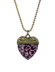 cheap -Women's Pendant Necklace Geometrical Heart Fashion Modern Acrylic Chrome Yellow Red Pink 61 cm Necklace Jewelry 1pc For Daily Work Festival