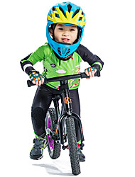 cheap -SANTIC Boys' Long Sleeve Cycling Jersey with Tights - Kid's Green Cartoon Bike Padded Shorts / Chamois Clothing Suit UV Resistant Breathable Quick Dry Sports Polyester Spandex Silicone Cartoon / Mesh