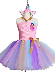 cheap -Handmade Sofia Costume Flower Girls Dress Rapunzel Kids Clothes Vestido Infantil