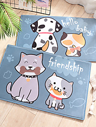 cheap -1pc Classic / Casual Bath Mats / Bath Rugs Other Leather Type / Coral Velve Novelty / Animal Cute / Non-Slip / Premium Design