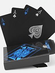 cheap -1set  Waterproof PVC Playing Cards Set Poker Card