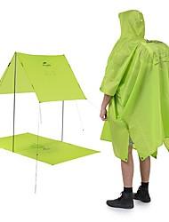 cheap -Rain Ponchos Waterproof Portable Folding Silicon Nylon Camping / Hiking Traveling Naturehike Orange Green 1 pcs