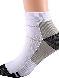 cheap -Men's Women's Athletic Sports Socks Cycling Socks Compression Socks Ankle Socks Breathable Black / Red Black / Yellow Purple Road Bike Mountain Bike MTB Running High Elasticity
