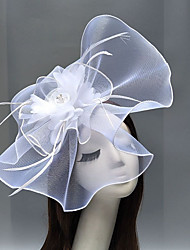 cheap -Net Kentucky Derby Hat / Fascinators / Headdress with Flower / Trim 1 Piece Wedding / Special Occasion Headpiece / Hair Clip