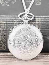 cheap -Men's Pocket Watch Quartz Silver Casual Watch Large Dial Analog Casual Fashion - Silvery / White