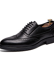 cheap -Men's Comfort Shoes Faux Leather Spring & Summer Casual / British Oxfords Breathable Black / Brown / White / Tassel / Party & Evening / Tassel / Party & Evening