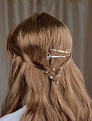 cheap -Women's Work Trendy Fashion Alloy Hair Charms Solid Colored